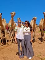 Erica and I with the Camels