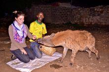 Alyssa Feeds the Hyena