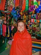 Alyssa in the Scarf Shop