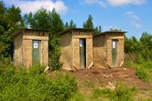 Finished Composting Toilets